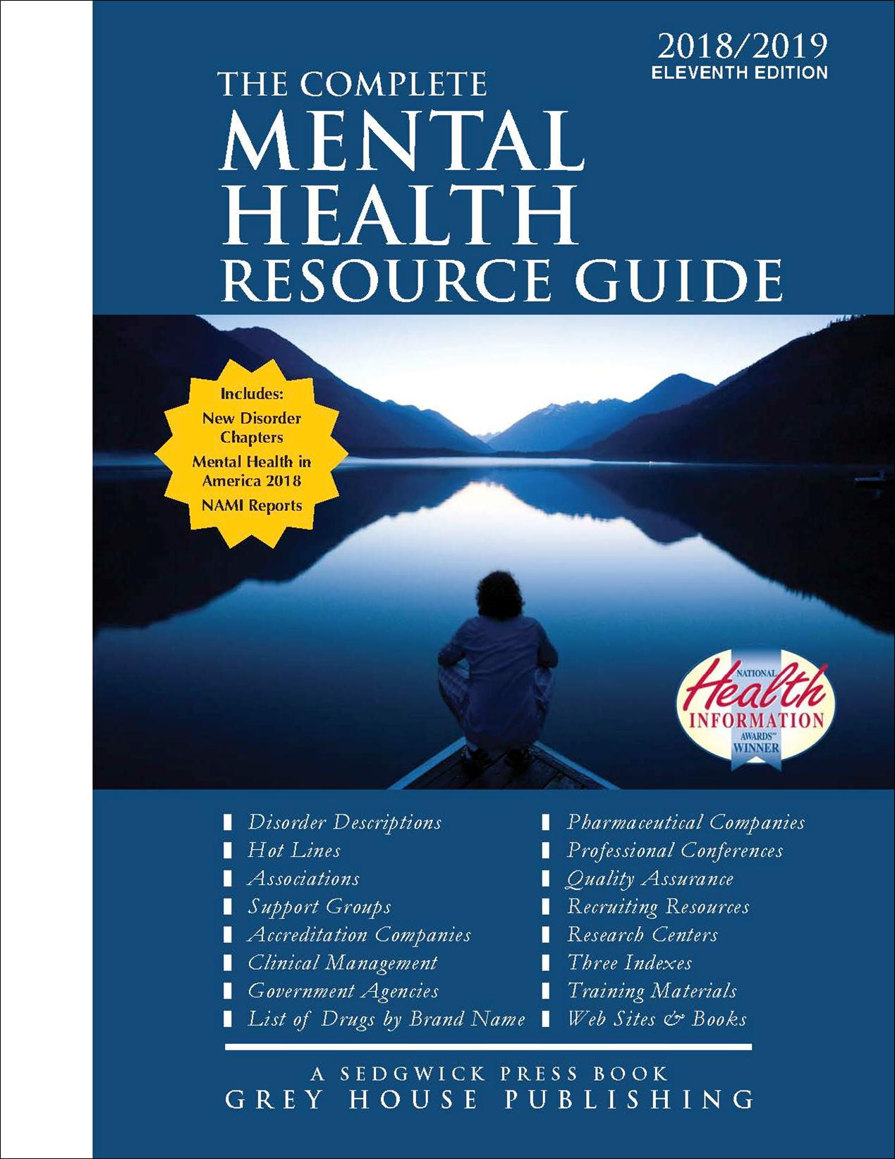 Grey House Publishing The Complete Mental Health Resource Guide